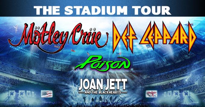 The Stadium Tour: Motley Crue, Def Leppard, Poison & Joan Jett and The Blackhearts at Kauffman Stadium